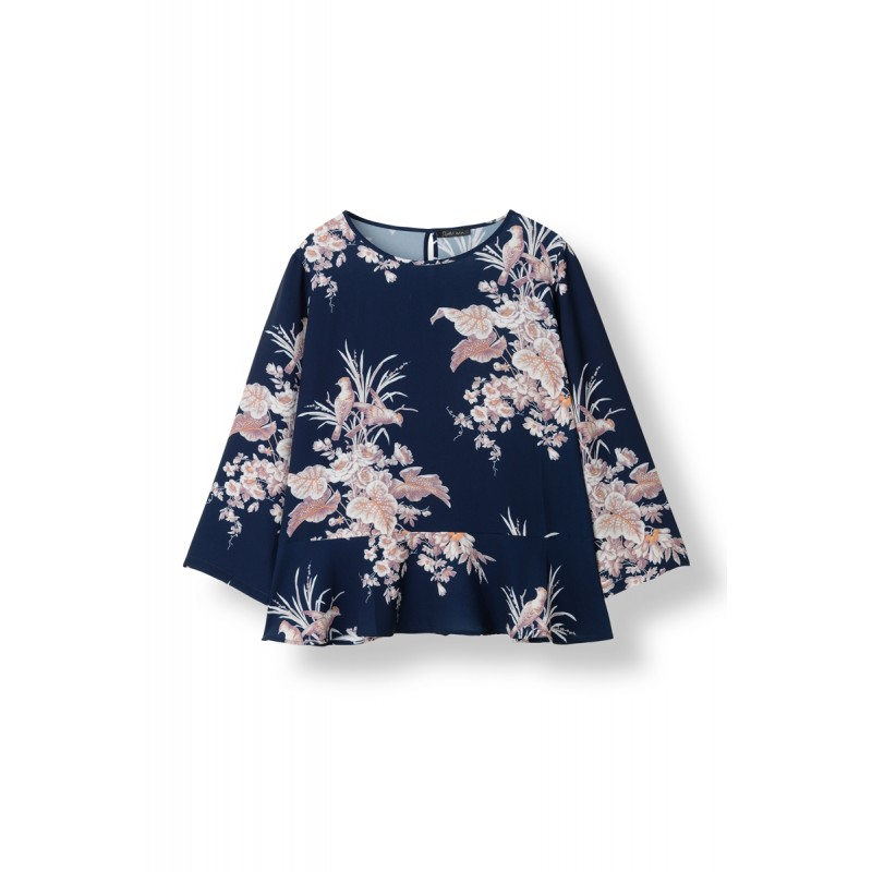 Bird flower blouse