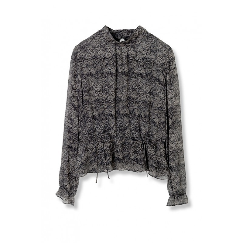 Feathers in the wind blouse