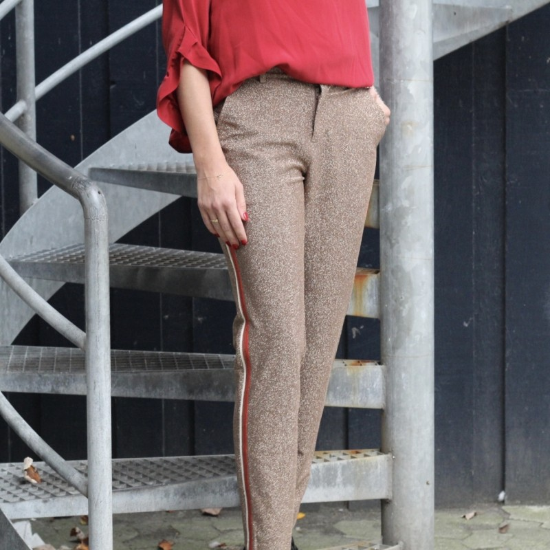 Lurex tailored pants with tape detail Scotch and soda
