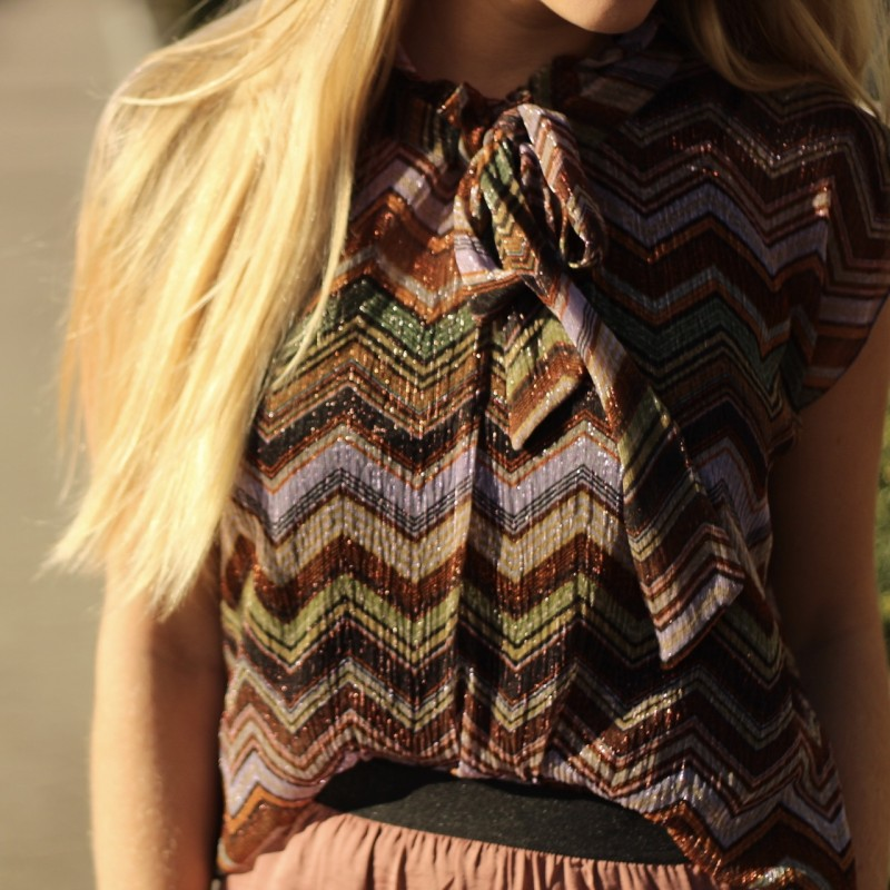 Waves Tie Blouse