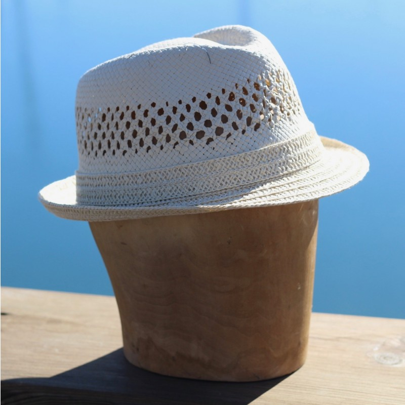 Paper trilby hat