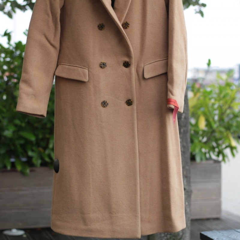 Long double breasted tailored wool coat Maison Scotsch