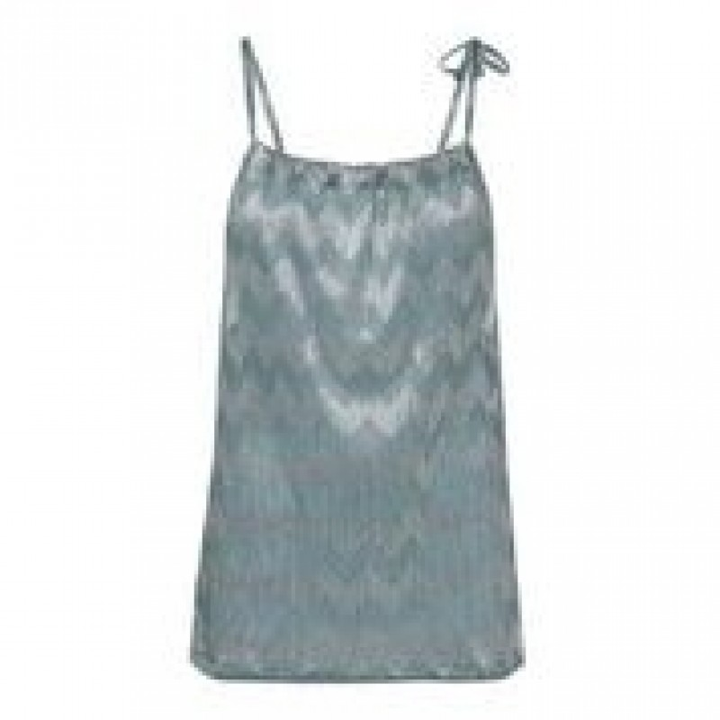 Turquoise silver tie top
