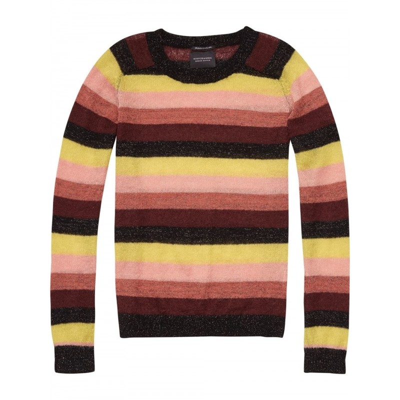 Striped pullover knit