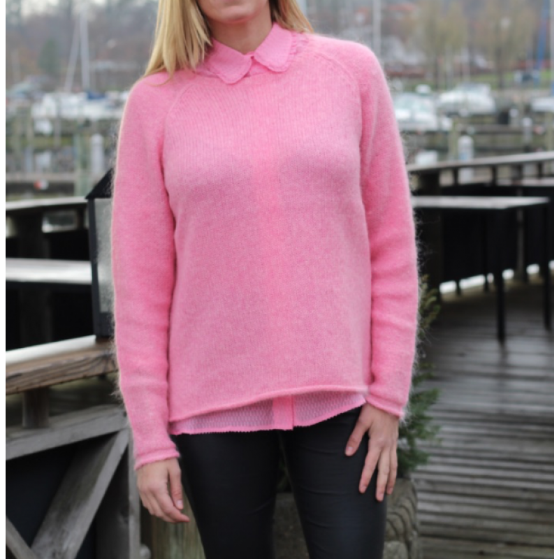 Soft mohair sweater pink
