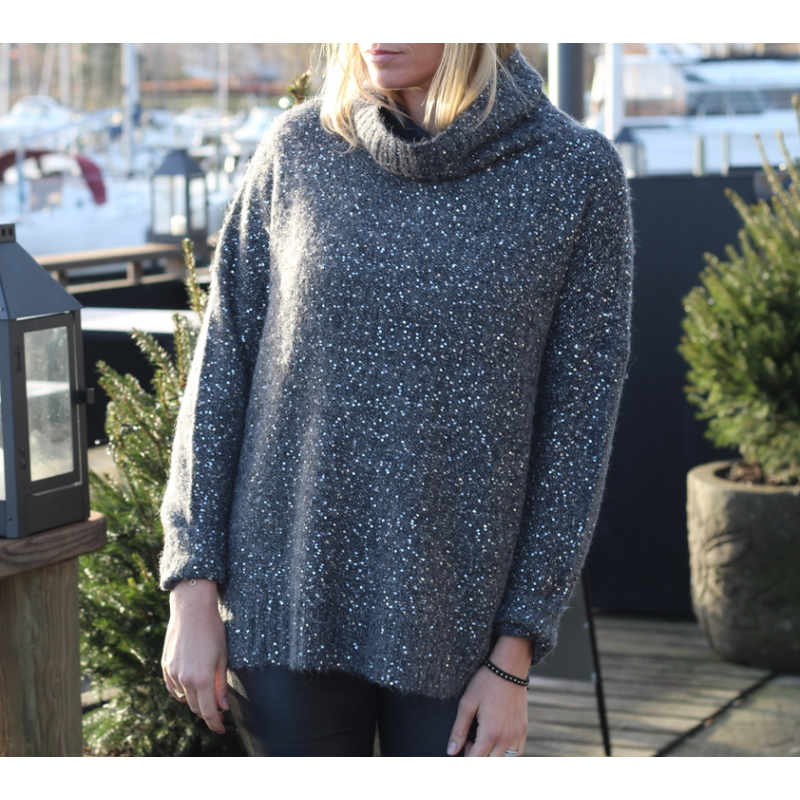 Sequins knit sweater