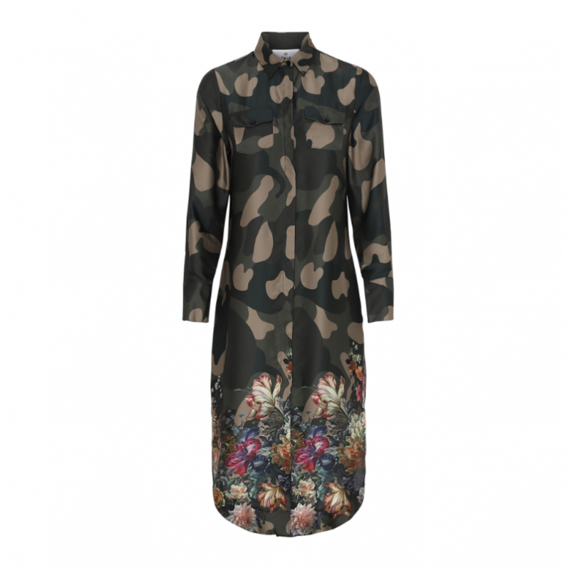 Harper dress - flower camouflage