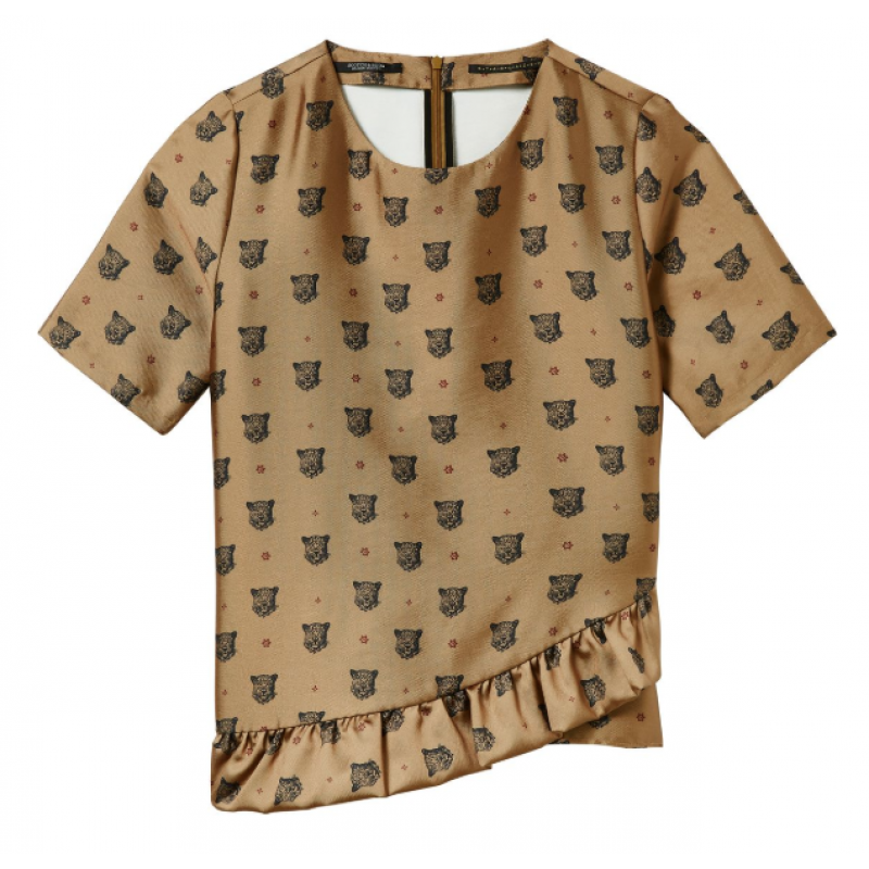 Top in shiny quality with leopards