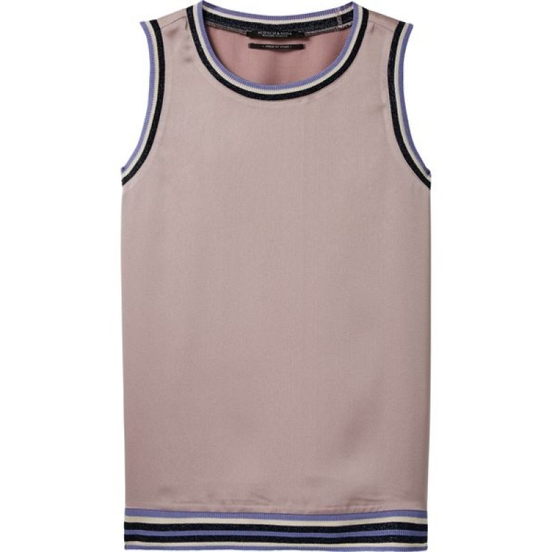 Crew neck sleeveless top