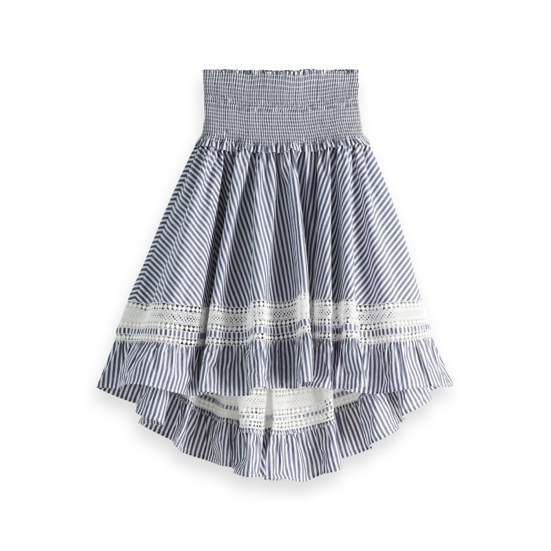 Skirt with ladder and smocked waistband