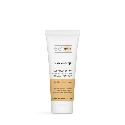 SUN Body lotion, SPF 15 - Karmameju