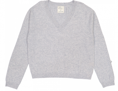 Womens V-neck - Ash Grey Peoples Republic of Cashmere