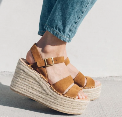 Como Platform Wedge Walnut Soludos