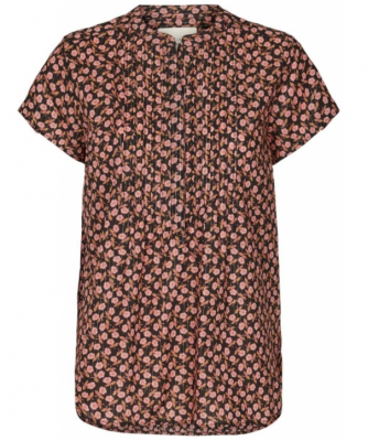 Heather Shirt - Red Flower print Lollys Laundry