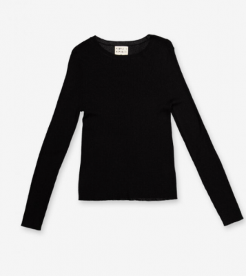 Thin Ribbed Roundneck