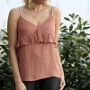 Tank top with ruffle detail