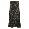 camouflage ruffle wrap skirt(short)
